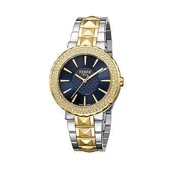 Ferre Milano FM1L058M0111 Gold watch, /gold band, with blue dial
