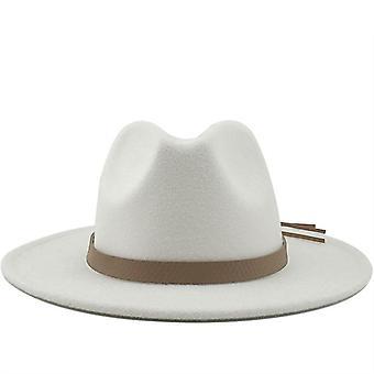واسعة بريم الخريف Trilby قبعات / أعلى قبعة الجاز شتاء بنما قبعة / خمر فيدوراس