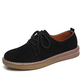 Spring Flats Sneakers Shoes Women Slip On Flat Loafers Suede Leather And