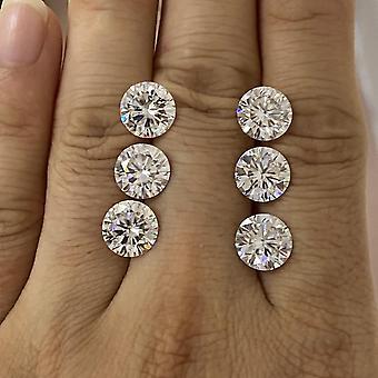 6.5mm 1 Carat Gh Color Moissanite Diamond Gemstone