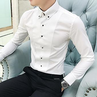 Fashion Summer Half Sleeve Casual paidat Slim Fit Hombre