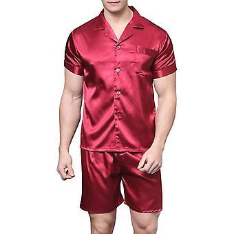 Satin Silk Pyjamas Shorts Sleepwear Summer Soft Nightgown