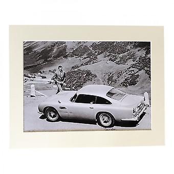 Larrini Bond Returning To His Db5 Aston A4 Mounted Photo