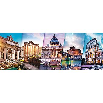 Trefl traveling to italy panorama 500 pieces puzzle