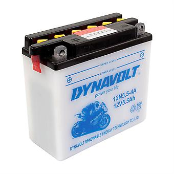 Dynavolt 12N554A Conventional Dry Charge Battery With Acid Pack