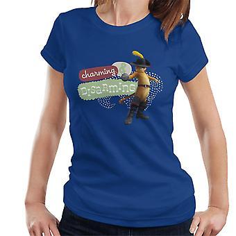 Shrek Puss saappaat viehättävä ja aseistariisuva Women's T-paita