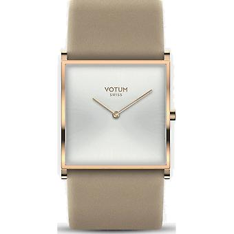 VOTUM - montre femme - SQARE - Pure - V02.20.10.04 - Bracelet en cuir - beige