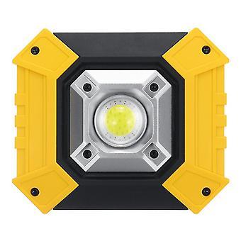 COB LED ضوء الفيضان USB القابلة لإعادة الشحن العمل ضوء التخييم ضوء الطوارئ