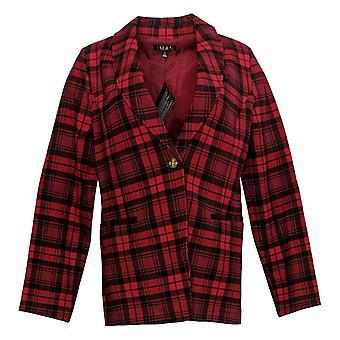 IMAN Global Chic Women's Suit Jacket/Blazer Ponte Knit Rood 724-481