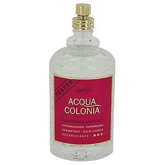 4711 Acqua Colonia Rosa Peppar & Grapefrukt Eau De Cologne Spray (Testare) Genom 4711 5,7 oz Eau De Cologne Spray