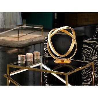 Lampada da tavolo a LED integrata, foglia d'oro