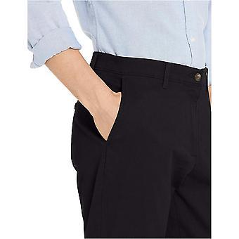 Essentials Men's Athletic-Fit Broken-in Chino, Black, Size 42W x 29L