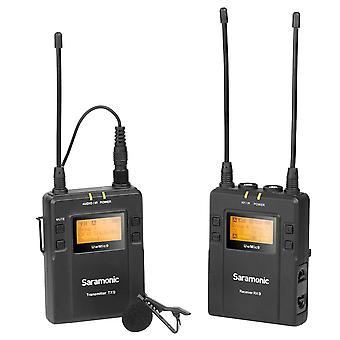 Saramonic wireless lavalier mic w/dual-rec & mixer for iphone & android smartphones (uwmic9tx9sprx9)