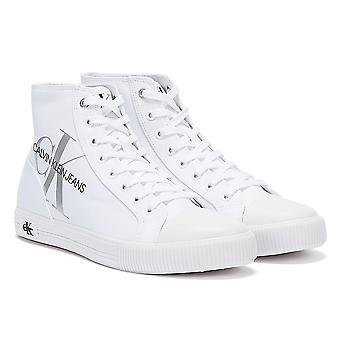 Calvin Klein Jeans Gevulkaniseerd High Polyestrer Womens White Trainers