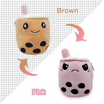 Flip two-sided Plush Stuffed Doll Toy Different Sides To Show Different Moods Soft Simulation Plush Toys For Kids 1PC