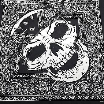 Fashion Hip Hop Cotton Skull Bandana Square Scarf Black Paisley Bicycle