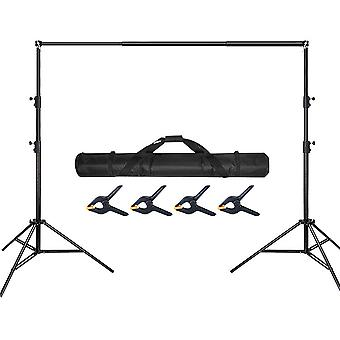 Photo Backdrop Stand Adjustable Photography Muslin Background Support System Stand