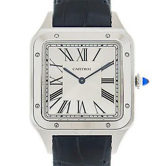 Cartier XL Santos Dumont Hand Wind Silver Dial Men's Watch WSSA0032