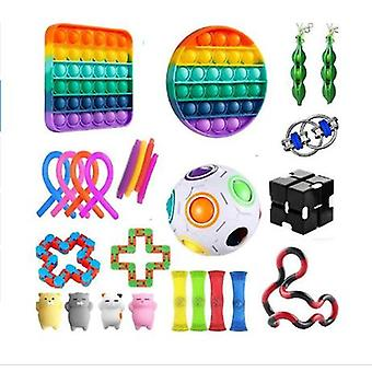 Sensory Fidget Toys Set 27 Pack Stress Relief And Anti-anxiety Hand Toys For Kids And Adults Calming Toys