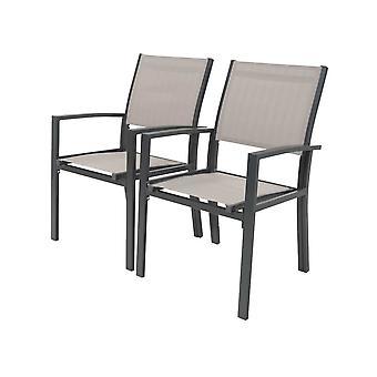 """Zestaw 2 krzeseł ogrodowych- tekstylny &Tropic"""" - Phoenix - Mole"""