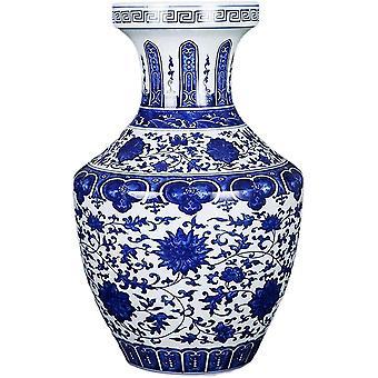 Vases Ceramic Handmade Crafts Blue and White Pattern Bedroom