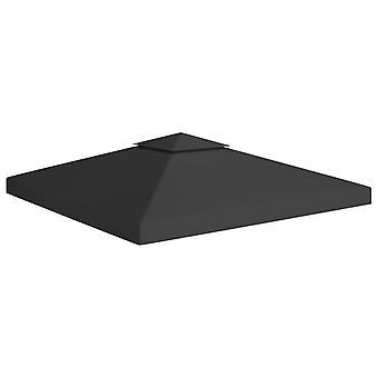 vidaXL 2-stage pavilion roof 310 g/m2 3x3 m Black