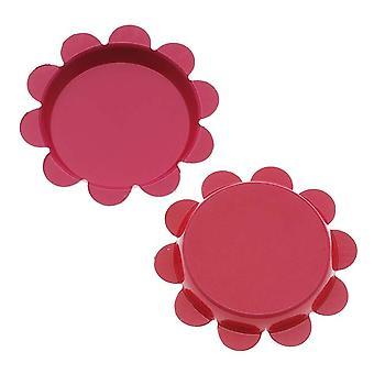 Final Sale - New Magenta Pink Flower Bottle Caps Craft Scrapbook Jewelry No Liners 25mm (24)