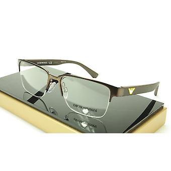 Emporio Armani EA1055 3164 Eyeglasses Frame Acetate Metal Brown