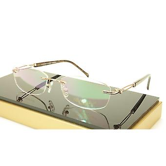 Paul Vosheront VT147 C1 Titanium Gold Rimless Eyeglasses Frame Italy
