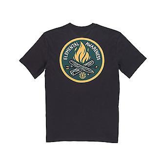 Element EA Logo Short Sleeve T-Shirt in Off Black Element EA Logo Short Sleeve T-Shirt in Off Black Element EA Logo Short Sleeve T-Shirt in Off Black Element E