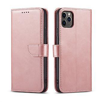 Flip Folio Ledertasche für Samsung a42 rosa pns-5369