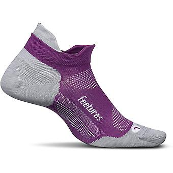 Feetures Elite Ultra Light No Show Tab Unisex Running Socks, Ruby - Small