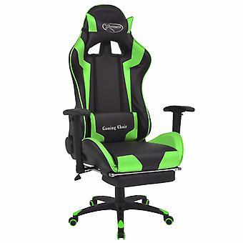 vidaXL bureaustoel gaming stoel kantelbaar met voetsteun groen