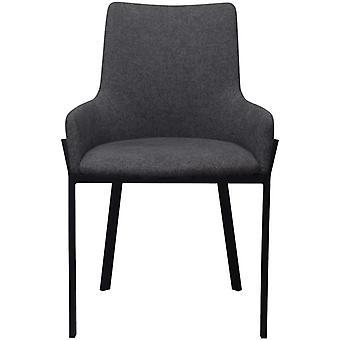 vidaXL sillas de comedor 2 piezas de tela gris oscuro