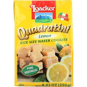Loacker Wafer Qudrtni Lemon 250G, Caso di 6 X 8.82 Oz