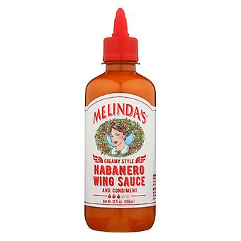 Melindas Sauce Wing Habanero Cream, Case of 6 X 12 Oz