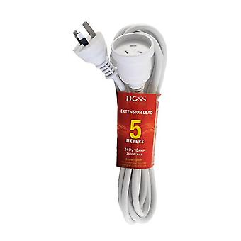 Doss 5M White Power Extension Lead