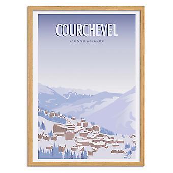 Kunstposter - Courchevel - Turo