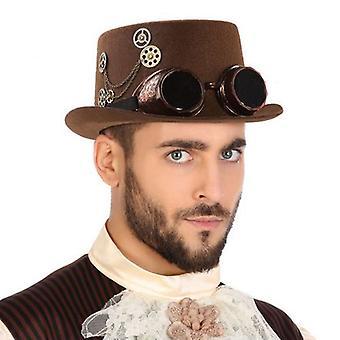 Cappello in poliestere Steampunk Brown