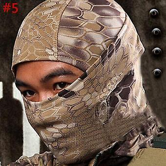 (#5) מסיכת הסוואה טקטית ציד Balaclava צבא צבא מלא פנים צלף כובע