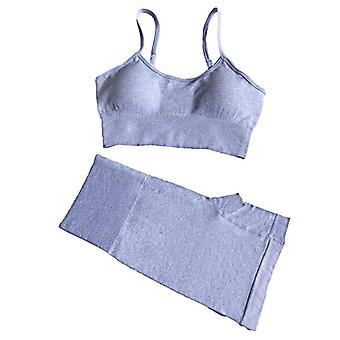 Yoga set sport suit workout active outfit fitness gym sets for women