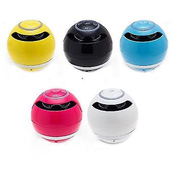 Mobile phone wireless bluetooth speaker,round subwoofer Outdoor portable mini speaker(Yellow)