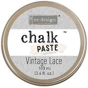 Prima Re-Design Chalk Paste 100ml - Vintage Lace