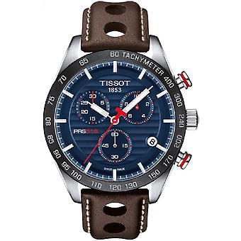 Tissot PRS516 T1004171604100 Brown Leather Chronograph Men's Reloj