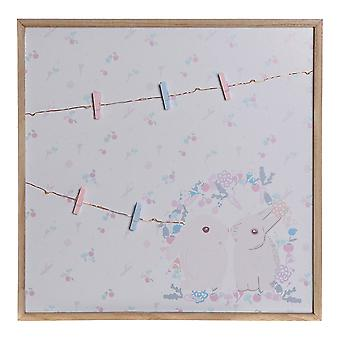 Valokuvakehys kiinnittimillä DKD Home Decor Paolownia puu (40 x 40 x 3 cm)