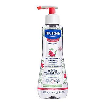 Mustela No Rinse lugnande rengöringsvatten 300ml (röd)