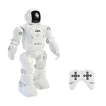 RC Roboter führen RC2108 Smart Dancing Gesichtslicht Klingt RC Spielzeug für Kinder| RC Roboter (Weiß)