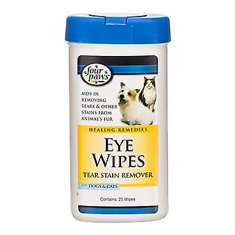 Four Paws Eye Wipes for Dogs & Cats - 25 Wipes