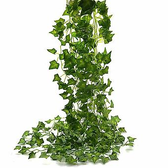 Artificial Trailing Garland Ivy Vine Leaf Fern Plant Foliage Décor 12 Pcs 7FT