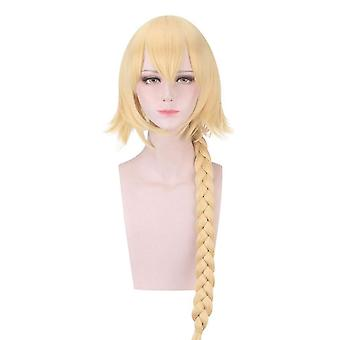 Fate grand order wigs joan of arc braided cosplay wigs halloween gift